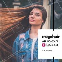 Mega hair em promoção! 😍 Aproveite e agende o horário da sua aplicação de megahair! #megahair #cabelo #ahazou #cabeleireiro