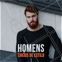 Quem faz barba e cabelo com a gente é assim, cheio de estilo! #ahazou #cabelomasculino #homens