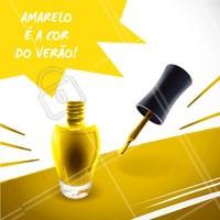 Amarelo é a nova aposta para o verão. Use e abuse! #unhas #esmalte #ahazou #amarelo #manicure #cordoverao