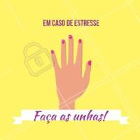 Não tem nada melhor para combater o estresse! 💅 #unhas #manicure #ahazou #unha
