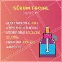 O sérum é um produto super completo e indispensável na sua rotina de cuidados diários! Olha só os benefícios que ele traz! 👆  #serum #cuidadoscomapele #ahazouestetica #esteticafacial #dicadepele