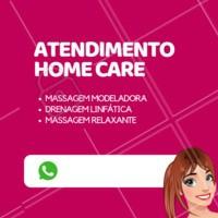 Marque seu tratamento no conforto do seu lar. #esteticacorporal #ahazou #homecare #drenagemlinfatica #massagemmodeloradora #mulher #cuidados #saude #beleza #magra