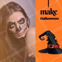 Que tal essa inspiração de maquiagem para festa de Halloween? Comente aqui o que irá fazer para a noite! #halloween #ahazou #maquiagem #festa #make