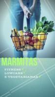Novidade! Agora temos marmitas fitness, lowcarb e vegetarianas. Escolha qual se adequa a seu objetivo. #marmitas #marmitasfitness #ahazou #lowcarb #vegetariana