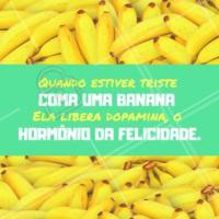 Uma bananinha sempre faz bem! 🍌 #alimentacao #ahazou #saude #food #banana #comerbem #vidasaudavel