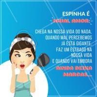 Concordam? 😂😂 #espinha #acne #ahazouestetica #estetica #esteticafacial