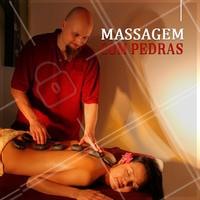 A massagem com pedras quentes é realizada com a finalidade de relaxar os músculos, aliviar a dor e trazer bem estar! #ahazou #massagem #massagemcompedras