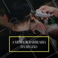 Somos a melhor barbearia da região. Venha dar um trato no visual com nossos profissionais. #barbearia #ahazou #barbeiro #melhordobairro