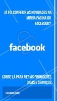 Aproveite para curtir a minha página profissional do Facebook