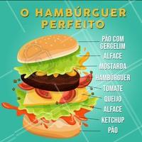 Clássico e perfeito! Vocês concordam? #hamburguer #ahazou #classico #perfeito #burger