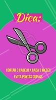 """Se suas pontas estão com aparência """"espigada"""", cortá-las a cada 3 meses diminui a probabilidade de pontas duplas, pois elimina os fios que vão ficando mais fracos devido ao desgaste do tempo. #cabelo #ahazou #pontasduplas #cabeleireiro"""