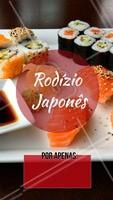 Venha conhecer nosso rodízio japonês. O melhor da região! #rodiziojapones #sushi #sashimi #ahazou #comidajaponesa #euamo #gastronomia