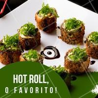 Eu ouvi hot roll? SIM!!! Aqui nós temos. Aproveite! #sushi #hotroll #comidajaponesa #ahazou #euamo #gastronomia
