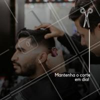 Venha dar um trato no visual. O corte deve ser feito quinzenalmente para manter o estilo. #barbearia #ahazou #corte #masculino #homens