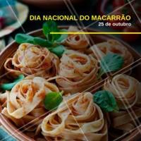 Aproveitando que hoje é o dia do macarrão, que tal dar uma fugidinha da dieta e se deliciar com essa gastronomia tão amada? #diadomacarrao #gastronomia #ahazou #massa #macarrao #alimentacao