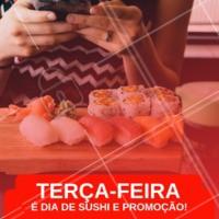 Toda terça-feira tem promoção no rodízio. Aproveite e venha se deliciar! #sushi #sashimi #ahazou #comidajaponesa #euamo #gastronomia
