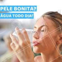 Uns dos segredos para uma pele linda, é beber a quantidade certa de água todos os dias. Já bebeu água hoje? 😉 #pele #estetica #ahazou #esteticafacial
