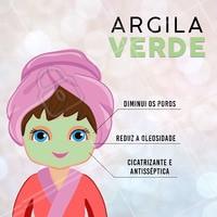A argila verde é muito indicada para peles oleosas e acneicas, por ter propriedades revitalizantes, regeneradoras, desintoxicantes, esfoliantes, cicatrizantes e antissépticas. #argilaverde #ahazou #esteticafacial #acne
