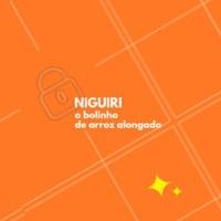 NIGUIRI é aquele bolinho de arroz alongado com fatias de peixe ou camarão por cima. Vocês gostam? #sushi #niguiri #ahazou #comidajaponesa #gastronomia