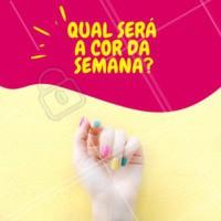 Já escolheu qual vai ser a sua cor dessa semana? Conte pra gente e agende seu horário! #unhas #nails #ahazou #manicure #pedicure #cores