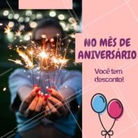 Aproveite o mês do seu aniversário e venha fazer as unhas com a gente. Você tem DESCONTO!!! <3 #unhas #promocao #ahazou #manicure #pedicure #desconto #aniversario