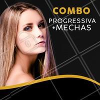 Aproveite esse combo e vem ficar DIVA com nossas mechas + progressiva 😘 #mechas #cabelo #ahazou #cabeleireiro #progressiva