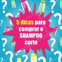 """1. Descubra qual o seu tipo de cabelo 2. Fuja dos shampoos feitos para """"todos os tipos de cabelo"""" ou produtos 2 em 1 3. Procure shampoos que tenham uma composição de qualidade 4. Escolha o que você quer tratar, por exemplo: couro cabeludo oleoso ou pontas secas? 5. Peça auxílio de um profissional #shampoo #ahazou #cabelo #cabeleireiro"""