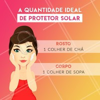 Você sabe a quantidade de protetor solar ideal para garantir uma proteção eficiente? 🤔 Olha só essa dica de ouro!  #pele #cuidadoscomapele #ahazouestetica #protetorsolar #esteticafacial