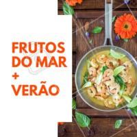 Praia, verão, comida... e frutos do mar! É a melhor escolha. #frutosdomar #verao #ahazou #alimentacao #gastronomia