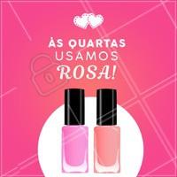 Hoje é o dia oficial do Rosa!!! Agende o seu horário <3 #nails #unhas #ahazou #rosa #pink #manicure #pedicure