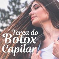 Aproveite nossos precinhos especiais de terça-feira e venha fazer seu botox capilar! 💇 #botox #botoxcapilar #ahazoucabelo #cabelo