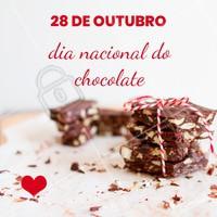Quem ama chocolate levanta a mão! <3 #chocolate #diadochocolate #ahazou #ahazoutaste #euamo #gastronomia