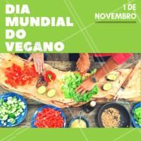 Veganos, hoje o dia é de vocês! <3 #vegano #veganismo #ahazou #ahazoutaste #diadovegano #veganismoporamor
