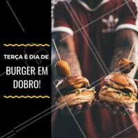 Traga um amigo, guarde pra viagem, ou se a fome tiver grande... coma os dois! #burger #hamburguer #ahazou #ahazoutaste #promocao