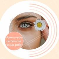 O verão é o momento em que a pele precisa recuperar suas funções e aumentar sua renovação celular.  Cuide- se bem, conheça nossos tratamentos e informe-se através do número XXXX