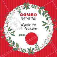 O ano passou voando, e o natal já está chegando. Se prepare e agende seu horário com a gente! #natal #unhas #ahazoumanicure #ahazou #promocao #manicure #pedicure