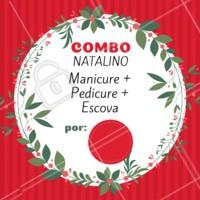 O ano passou voando, e o natal já está chegando. Se prepare e agende seu horário com a gente! #natal #unhas #cabelo #ahazou #promocao