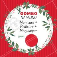 O ano passou voando, e o natal já está chegando. Se prepare e agende seu horário com a gente! #natal #unhas #make #ahazou #promocao #combo