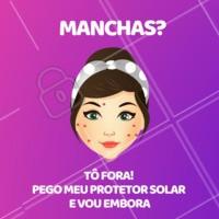 Hahahaha! Já aplicaram o protetor solar hoje? #protetorsolar #ahazouestetica #cuidadoscomapele #esteticafacial