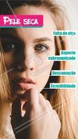 Olha só algumas características da pele seca para reconhecer qual seu tipo de pele. #peleseca #ahazou #ahazouestetica #esteticafacial