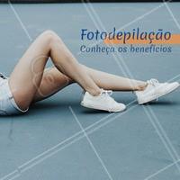 A fotodepilação é feita atráves da Luz Pulsada, e tem diversos benefícios. É recomendada para todos os tipos de pele, e as chances de irritabilidade da pele são mínimas. As sessões são indolores, e os resultados duram em média 1 ano. É indicada para a remoção de pelos de corpo de forma mais rápida e segura, e ajuda muito quem sofre de foliculite. Agende já o seu horário! #fotodepilacao #luzpulsada #ahazou #ahazoudepilacao #depilacao #chegadepelos