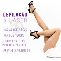 Olha só os benefícios da depilação a laser! Por isso todo mundo ama. ❤️️ Que tal agendar seu horário e conhecer? #depilaçaoalaser #ahazoudepilaçao #depilaçao