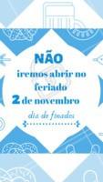 Informamos que não iremos funcionar no feriado, 2 de novembro, Dia de Finados. #feriado #ahazouferiado #ahazou #motivacional