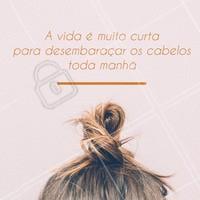 Status do dia: deixando a vida me levar!rs #cabelos #ahazou #coque #beleza