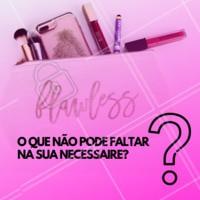 Sempre tem aquele rímel que não vivemos sem, ou aquele batom que não tiramos nunca dos lábios... Conta pra gente o que não falta na sua necessaire! #makeup #ahazoumaquiagem #ahazou #necessaire #mulheres