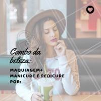 Esse é o verdadeiro combo da beleza feminina. Aproveite e agende seu horário! #makeup #ahazoumaquiagem #ahazou #manicure #pedicure #combo #promocao #beleza