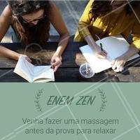 Estressada com a prova? Venha fazer uma massagem relaxante! Aproveite para ir tranquila no dia da prova. #enem #ahazou #massagem #ahazoumassagem #prova #estudante