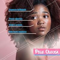 Olha só algumas características da pele oleosa para reconhecer qual seu tipo de pele. #peleoleosa #ahazou #ahazouestetica #esteticafacial