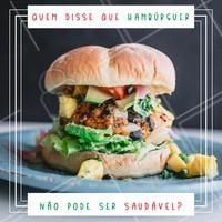 Experimente nossos hambúrgueres com ingredientes saudáveis e venha se deliciar! #hamburguer #ahazoualimentaçao #ahazou #fastfood #comidasaudavel
