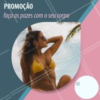 Nesse verão, faça as pazes com o seu corpo e aproveite nossa promoção imperdível! #promocao #ahazou #verao #estetica